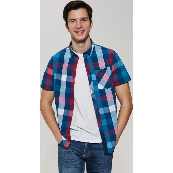 594e9f8dc051d6 Koszula z krótkim rękawem w kratę - Czerwony - Koszule marki House ...