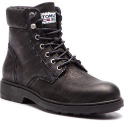 85f507ca5b2f5 Kozaki TOMMY JEANS - Embossed Nubuck Boot EM0EM00234 Black 990. Kozaki  marki Tommy Jeans.