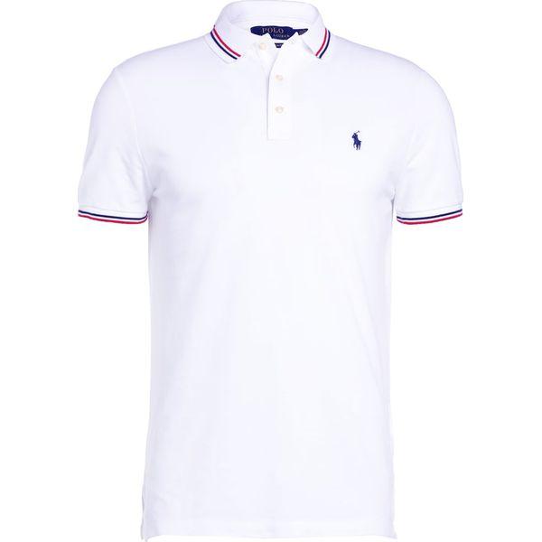03a1f2d7f Polo Ralph Lauren FEATHER CUSTOM SLIM FIT Koszulka polo white ...