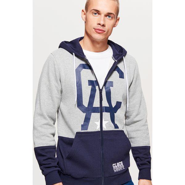 6959fb5b6a400f Rozpinana bluza z kapturem CLASSIC - Jasny szary - Bluzy z kapturem ...