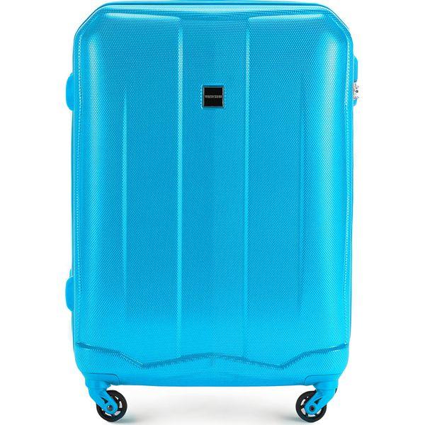 2c81b3bfca459 Walizka średnia 56-3A-372-77 - Niebieskie walizki marki Wittchen, z ...