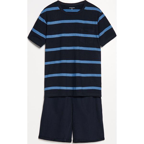 f87390f36bbed3 Piżama z szortami - Granatowy - Niebieskie piżamy Reserved, l, bez ...