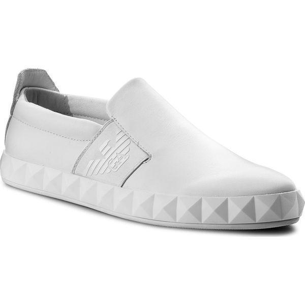 fec88f1e7d321 Sneakersy EMPORIO ARMANI - X4X212 XF187 00001 Optical White - Buty sportowe  casual marki Emporio Armani, z materiału. W wyprzedaży za 569.00 zł.