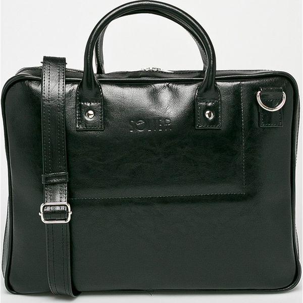79ee78693defe Solier - Torba skórzana - Czarne torby na laptopa marki Solier. Za ...