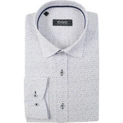 Niebieska Koszula z Lamówką GRZEGORZ MODA MĘSKA z Długim Rękawem, Krój Klasyczny KSDWGRZEG0036RGnieblam