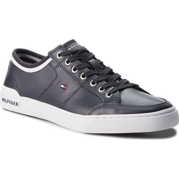 797120f5074aa Sneakersy TOMMY HILFIGER - Core Corporate Leather Sneaker FM0FM01497 ...