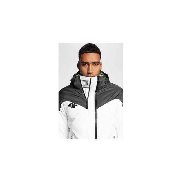 abf96d697 Kurtka narciarska męska KUMN152 - biały - Kurtki przeciwdeszczowe 4F ...