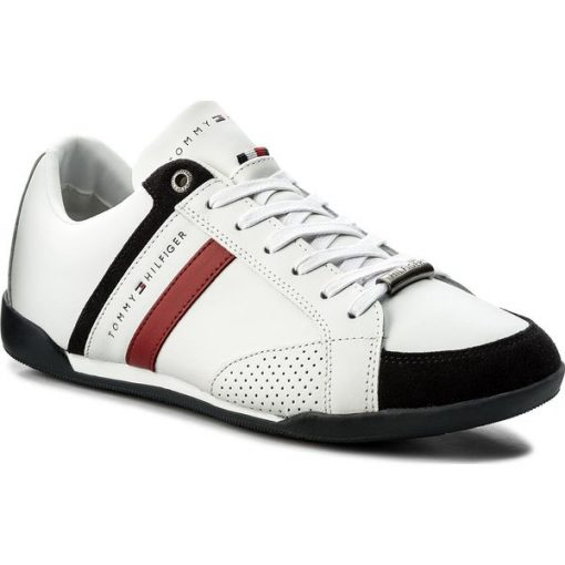 751452a79ffb9 Sneakersy TOMMY HILFIGER – Corporate Material Mix Cupsole FM0FM01532 White  100