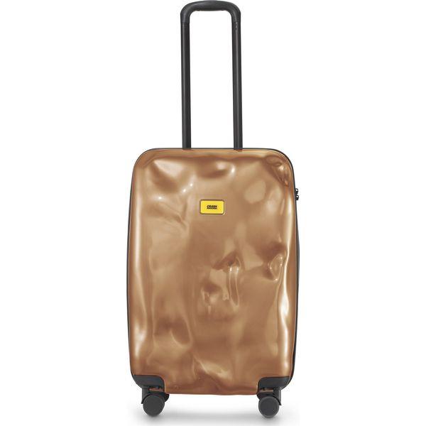 b846edd8ec51f Walizka Bright średnia Bronze Face - Brązowe walizki marki Crash ...