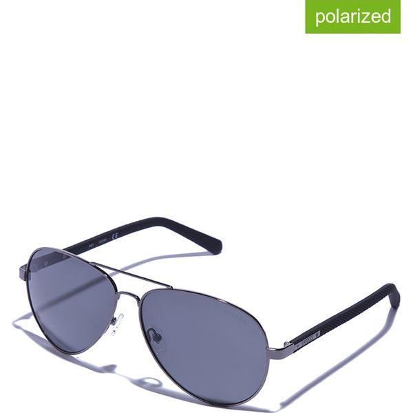 d6397231f3f Okulary męskie w kolorze srebrno-szarym - Okulary przeciwsłoneczne ...
