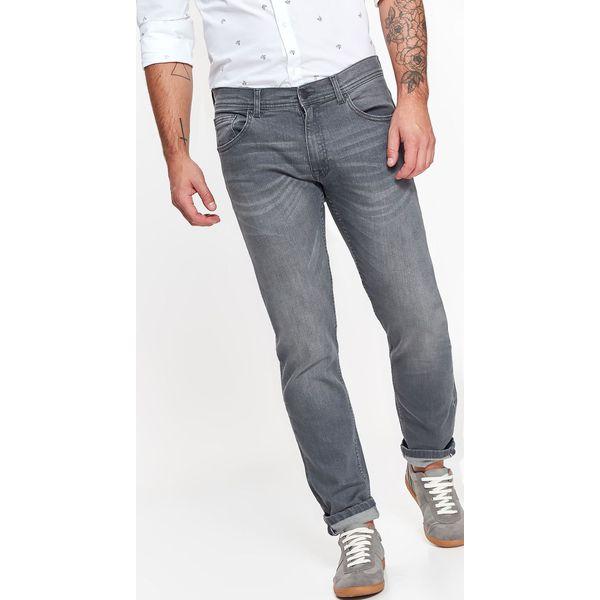 Spodnie męskie jeansowe z lekkim opraniem o kroju slim