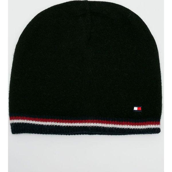 e360f6b5 Tommy Hilfiger - Czapka - Czarne czapki zimowe marki Tommy Hilfiger ...