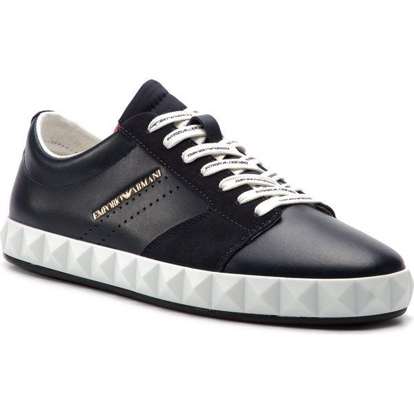 614dcbe75d Sneakersy EMPORIO ARMANI - X4X254 XL694 C128 Navy - Buty sportowe ...