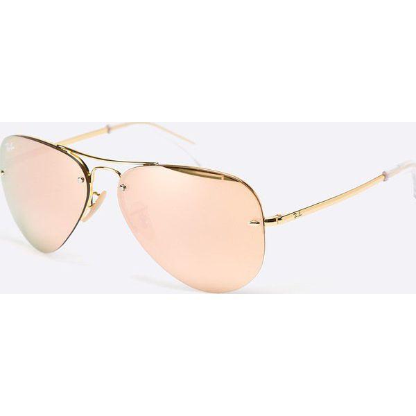 Ray ban złote żółte okulary przeciwsłoneczne Galeria zdjęć