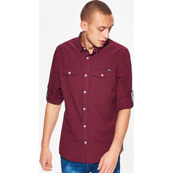 5719f390bed4ef Koszula w drobną kratkę BASIC - Granatowy - Koszule Cropp. Za 69.99 ...